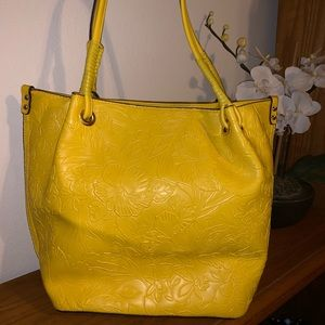 Jessica London Embossed Tote- Gorgeous Yellow